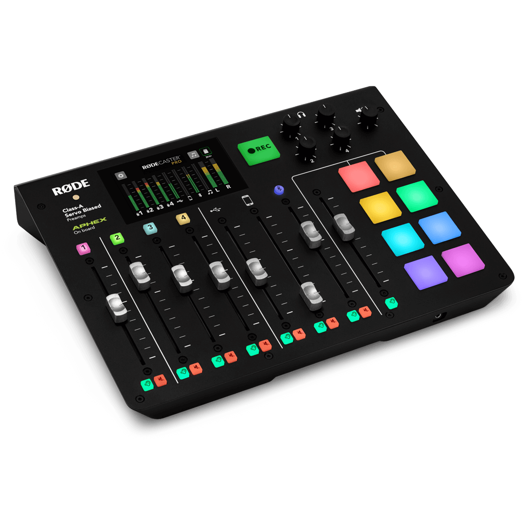 Rodecaster Pro angle view