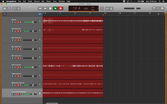 rodecaster pro multitrack audio into garageband recording audio