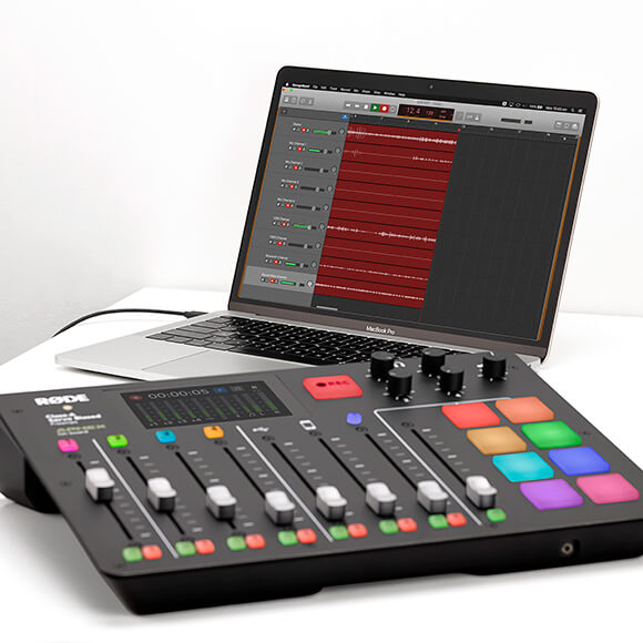 rodecaster pro recording multitrack audio via usb cable to computer with garageband